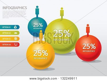 Vector Illustration:   info-graphic - sphere style - population