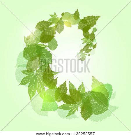 Whirlpool with green leaves and sparkles for banners frames and your design