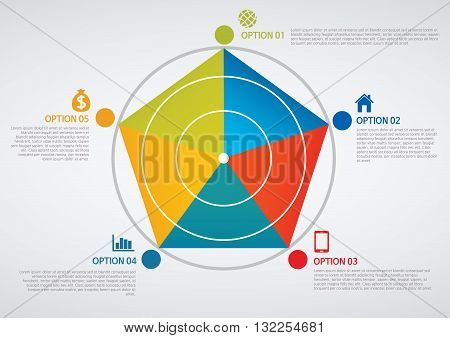 Vector Illustration:   info graphics - colorful graph,cylinder
