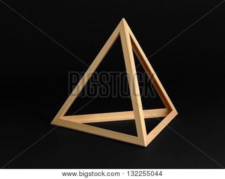 Three Dimensional Triangle On Black