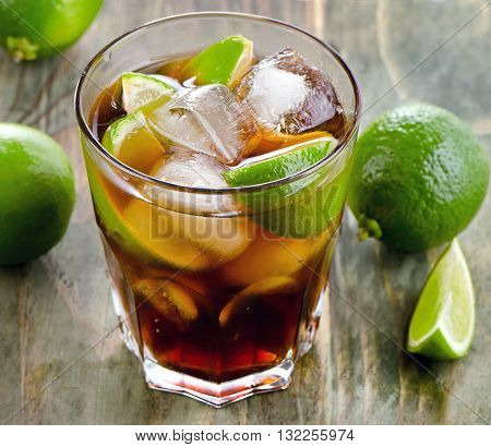 Cuba Libre With Limes