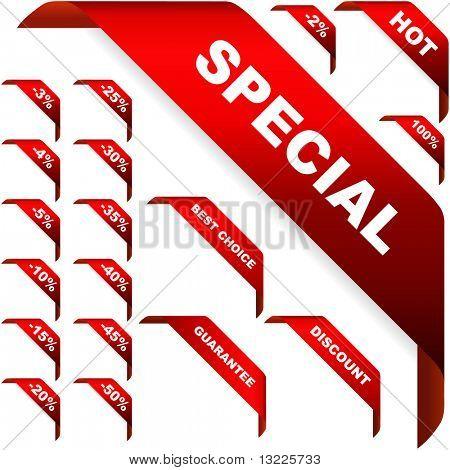 Conjunto de cintas de esquina de vector para la venta