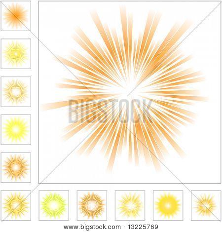 Sunburst abstract vector.