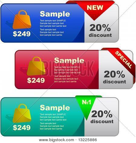 Banners de vector para web