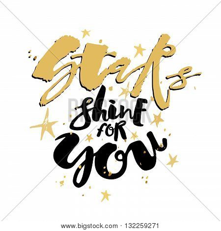 Stars Shine For You Love Motivation Poster.