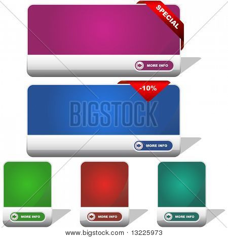 Vector banners for web