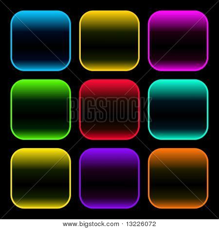 Web buttons for design. Vector set.