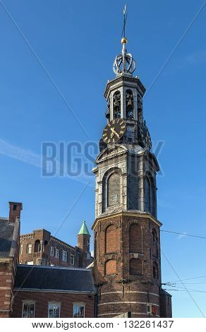 The Munttoren (Mint Tower) or Munt is a tower in Amsterdam the Netherlands