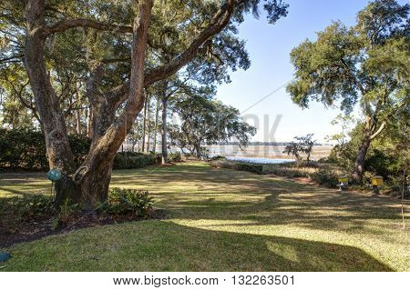 Beautiful waterfront property in the American South