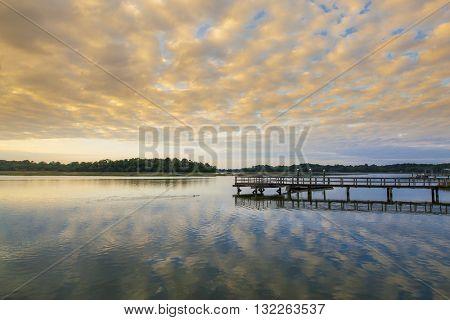 South Carolina lowcountry at sunset