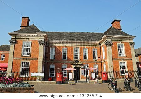 STAFFORD, UK - SEPTEMBER 11, 2014 - Chetwynd House (former post office) and home of Playwright Richard Brinsley Sheridan (MP) Stafford Staffordshire England UK Western Europe, September 11, 2014.