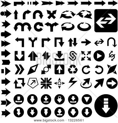 A vector set of useful arrows. Great collection.