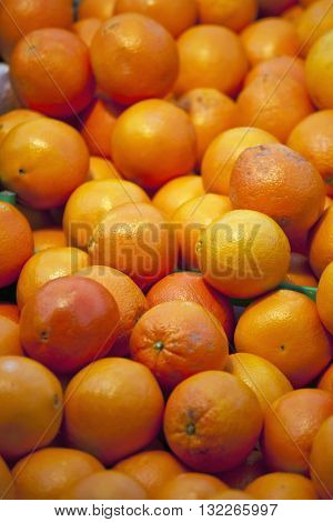 Fresh Tangerines On Market