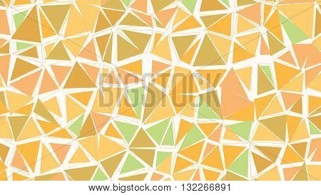 Abstract biege brown green earthtones vector gradient lowploly of many triangles background for use in design