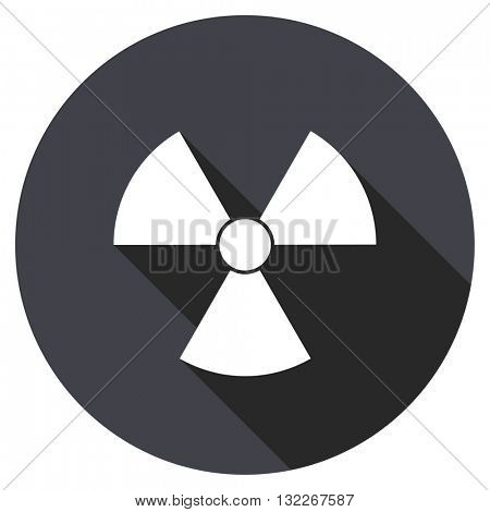 radiation vector icon, round flat design button, web and mobile app illustration