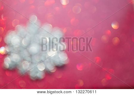 Red to maroon blurred glittery holiday background image