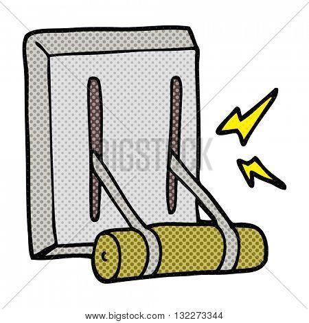 freehand drawn cartoon electrical switch