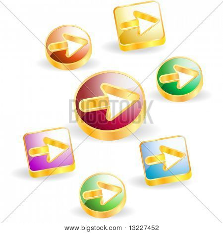 Arrow set vector for web design.