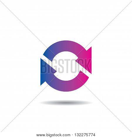 Sync Modern Icon Logo Vector Template Flat