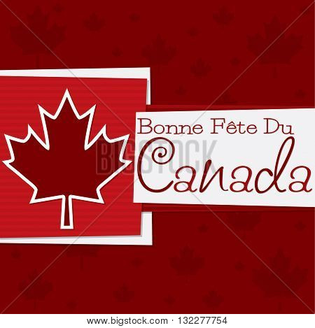 Funky Canada Day card in vector format. Translation: Happy Canada Day!