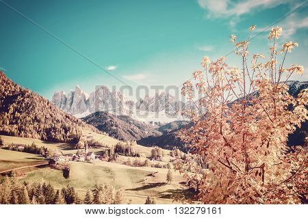 Autumn Landscape In Dolomites