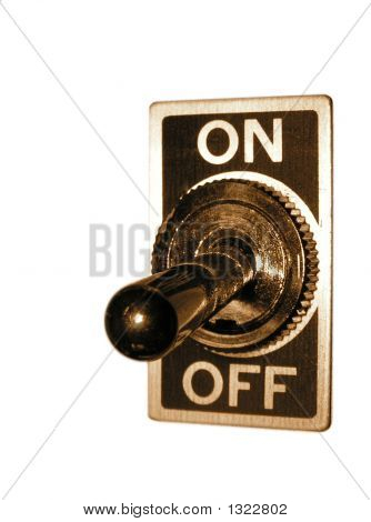 Chrome Isolated Switch (Off)