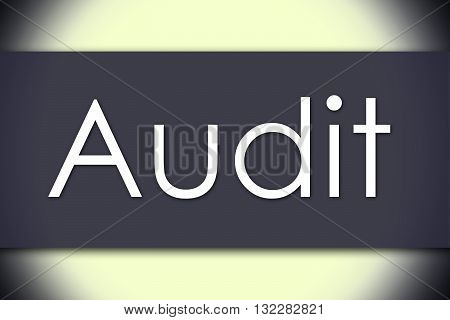 Audit - Business Concept With Text