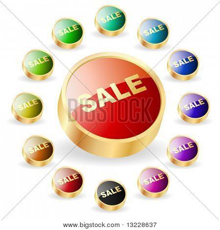 Conjunto de botones de venta para la web