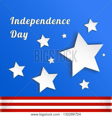 Postcard for Independence Day holiday in America. Card as a symbol of freedom. Vector illustrations to celebrate July 4th. America joy Eps 10
