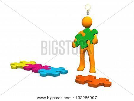 Manikin Bulb Puzzle Pieces