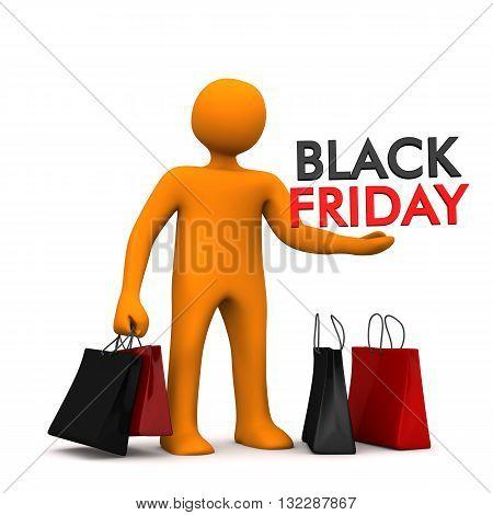 Manikin Shopping Bags Black Friday