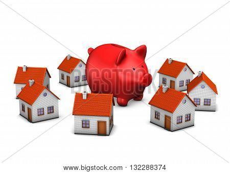 Red Piggy Banks Homes