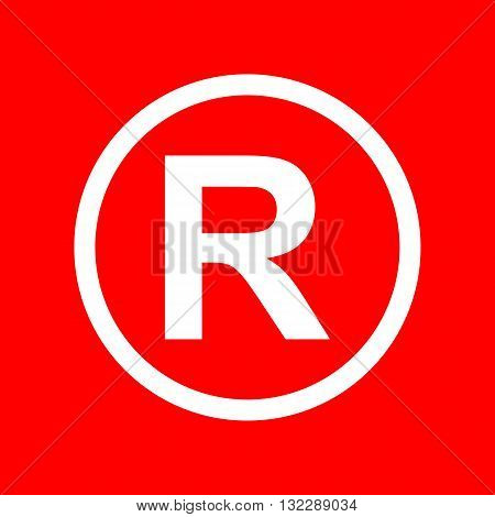 Registered Trademark sign. White icon on red background.