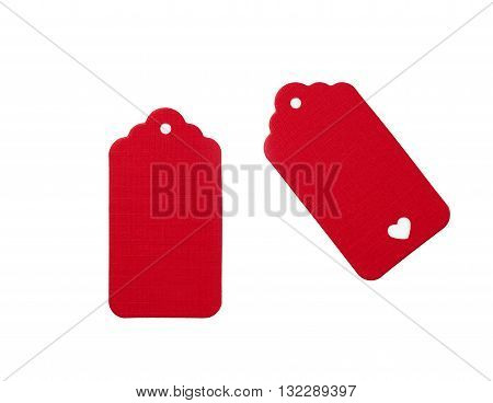 Red Blank Gift Tags