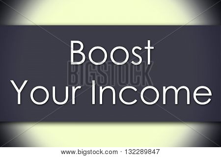 Boost Your Income - Business Concept With Text
