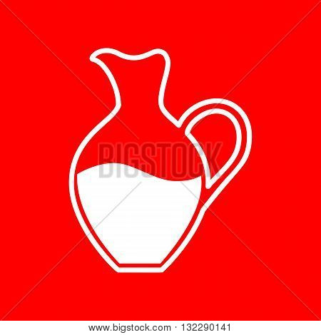 Amphora sign. White icon on red background.