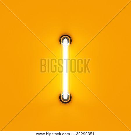 Neon Light Alphabet Character I Font