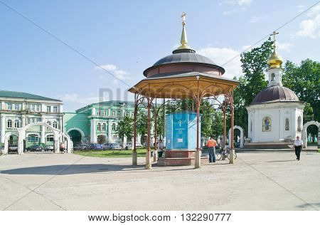 ORYOL RUSSIA - May 15.2012: Pump-room with holy water on the territory of the Epiphany Cathedral