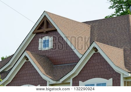 Gable Dormers and Roof of Residential House