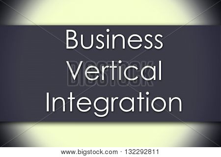 Business Vertical Integration - Business Concept With Text