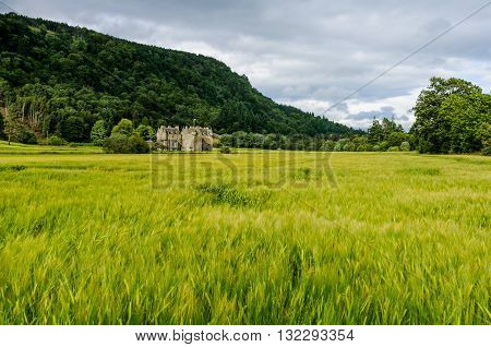 Menzies Castle near the village of Weem in Perthshire Scotland.