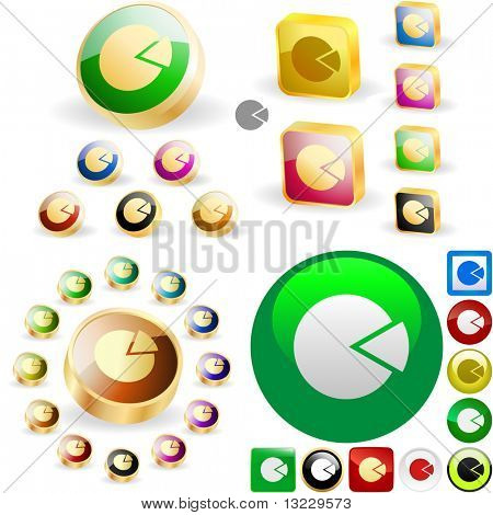 Diagram button set. Vector great collection.