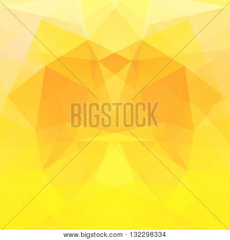 Background Made Of Triangles. Square Composition With Geometric Shapes. Eps 10 Yellow, Orange Colors