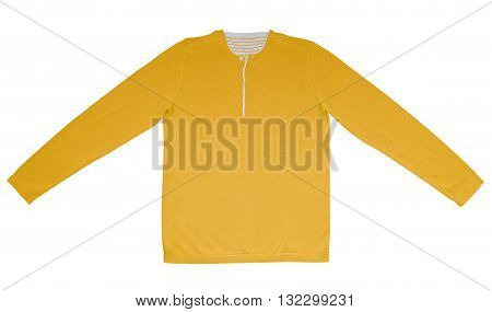 Warm Shirt With Long Sleeves - Yellow