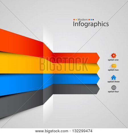 Modern colorful infographics design. Clean vector illustration
