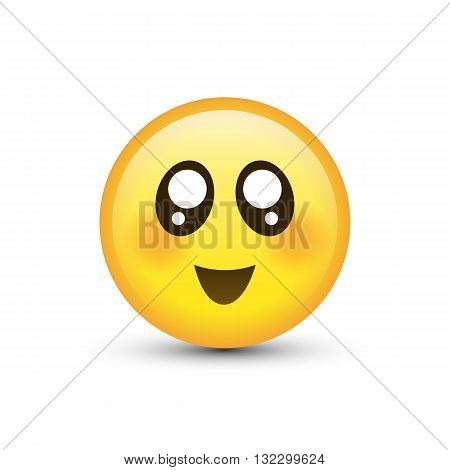 Vector eyes smiley isolated on a white background