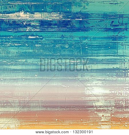 Rough textured backdrop, abstract vintage background with different color patterns: yellow (beige); brown; blue; cyan; white; pink