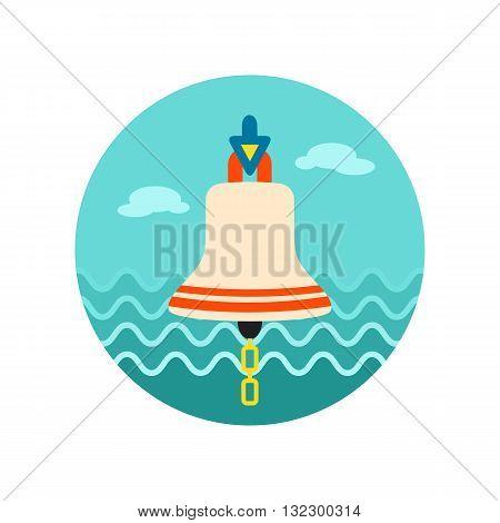 Bell marine vector icon. Beach. Summer. Marine. Summertime. Vacation eps 10