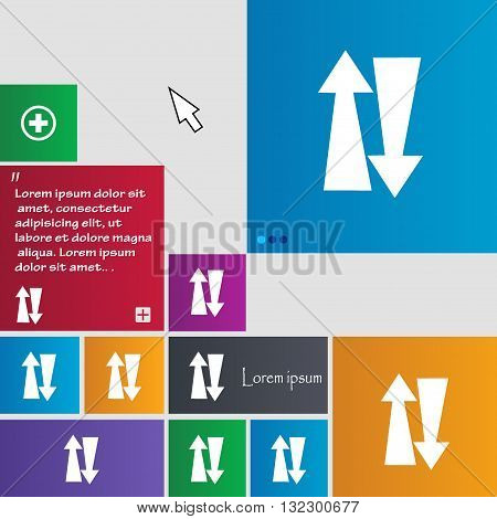 Two Way Traffic, Icon Sign. Buttons. Modern Interface Website Buttons With Cursor Pointer. Vector