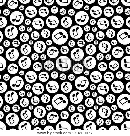 Seamless pattern with music notes.